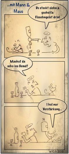 "Comic Strip ""mit Mann & Maus"" im Wiener Dialekt. Folge #46"