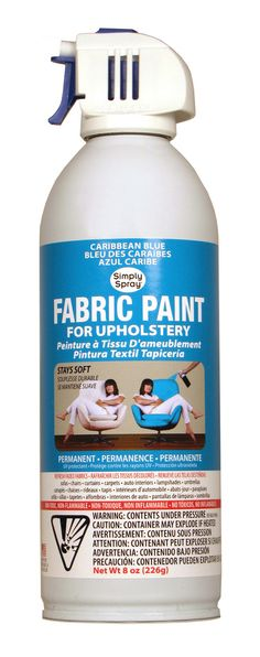 Caribbean Blue Upholstery Fabric Paint