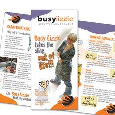 Leaflet design Client: BusyLizzie Lifestyle Management Work done: Concept & Execution - Design, photo manipulation, layout Softwares: Adobe Illustrator, Photoshop