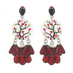 Boucles d'oreilles Cardinal