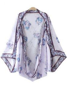 Floral Bat-Wing Sleeve Kimono