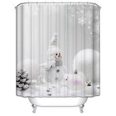 Amazon Wimaha Christmas Shower Curtain Fabric Waterproof Snowman Standard 72W X 72L Home Kitchen