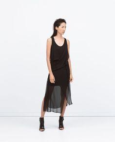 DRAPED SLEEVELESS DRESS-View all-Dresses-WOMAN | ZARA United States