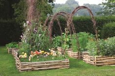 Choosing native wood structures for your garden is not only environmentally friendly but looks beautiful too. Here's Sarah Raven's top tips.