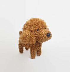 Poodle Amigurumi Dog Handmade Crochet Puppy Stuffed by Inugurumi