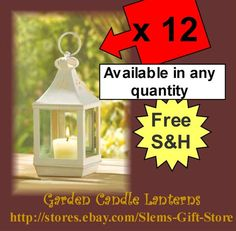 Lot of 12 Mini Garden Candle Lanterns Wedding patio garden party Decor $54.95 Free S http://stores.ebay.com/Slems-Gift-Store  *OR* order directly from me at dslem3@yahoo.com and receive 20% off any item in the store!