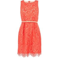 coral dress :)