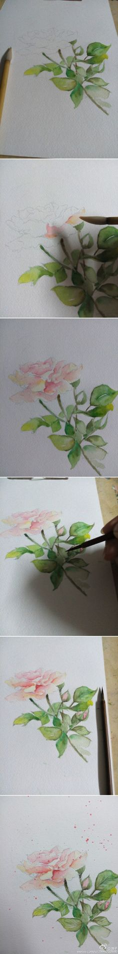 20 Delicate Colorful Watercolor Flower Painting Tutorials In Images-HOMESTHETICS (2)