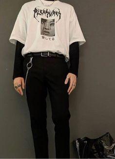 𝔱 𝔯 𝔞 𝔷 fashion mode, grunge fashion, grunge men, korean fashion, men&a Fashion Mode, Aesthetic Fashion, Grunge Fashion, Aesthetic Clothes, Boy Fashion, Korean Fashion, Mens Fashion, Fashion Outfits, Grunge Men