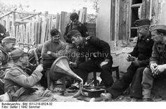 Summer 1942, Stalingrad. German soldiers having a break.