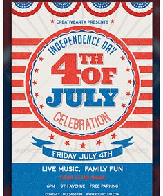 Independence Day 4th of July Flyer Template - Party Flyer ...