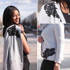 Customisation blazer avec de la dentelle | Kustom Couture