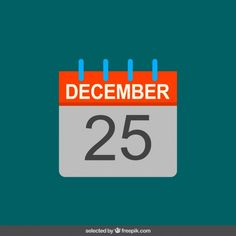 Calendar in flat design Free Vector