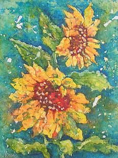 Watercolor Batik Paintings