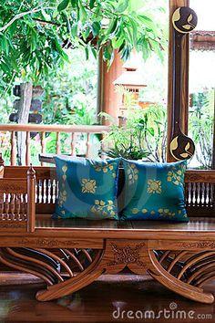 Thai Furniture & Pillows #DecorbyMe @ForRent.com