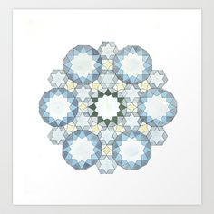 ANALOG GEOMETRY SNOW Art Print by NomadicSoulCreations - $25.00