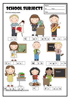 School Subjects | ESL/EFL in Infant and Primary School | Pinterest ...