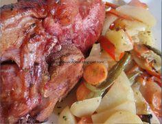 --- CODILLO ASADO CON PATATAS Y PIMIENTOS ---  Sígueme también en: Facebook, Youtube y Mi blog como Diviértete al Cocinar Steak, Facebook, Youtube, Blog, Potatoes, Easy Recipes, Cook, Youtubers, Steaks