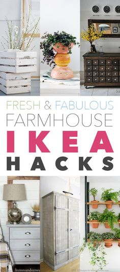 I know how much you love a collection of Ikea Hacks…but I have a really good feeling that you will be over the moon with yet another New Collection of Fresh & Fabulous Farmhouse Ikea Hacks and that is what I have for you today.  From an amazing Apothecary Creation to a Farmhouse Wardrobe Treasure …