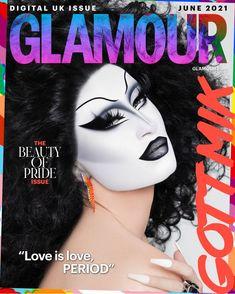 GLAMOUR June Digital Pride Issue Coverstar Gottmik Interview | Glamour UK Best Drag Queens, Drag Makeup, Trans Man, Glamour Uk, Rupaul Drag, Cindy Crawford, Eyelashes, Makeup Looks, Halloween Face Makeup