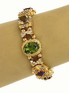 Antique slide bracelet