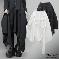 Gothic Punk Fashion, Asymmetrical Skirt, Visual Kei, Style Me, Harem Pants, Kimono Top, Elegant, Skirts, How To Wear