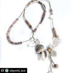 #Repost @staywild_aus  Still one of my favourites  #handmade #staywild #gypsy #summer #necklace #crystal #love #jasper #hilltribesilver #sunshinecoast #queensland #australia #beach #babe #surf
