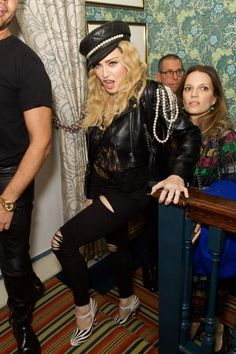 Madonna at Edward Enninful Celebrates OBE With Mark's Club Party
