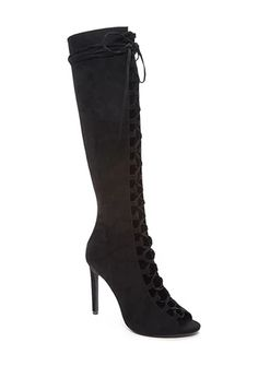 Lace-Up Knee-High Boots   Forever 21 #stepitup