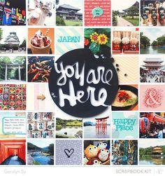 In a Creative Bubble: Studio Calico: Marks & Co layouts Love Scrapbook, Travel Scrapbook, Scrapbook Pages, Studio Calico, Scrapbooking Layouts, Digital Scrapbooking, Multi Picture, Layout Inspiration, Photo Book