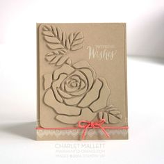 Welcome back! Today the Stamp Review Crew is stamping with Rose Wonder.  This is a large stamp set with many different occasion verses included in  the set. The set has coordinating thinlets. Both are available in the  Stampin' Up! Annual Catalog.  I chose to create a wedding card and used the