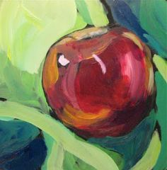 A simple apple. I love how artist Kat Corrigan can make something so simple, so appealing (pun intended). Pomes, Apple Art, Dog Portraits, Still Life, Art Photography, Artsy, Sculpture, Simple, Creative