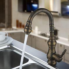 Antique Brass Kitchen Faucet (Antique Copper Finish) T-1705A