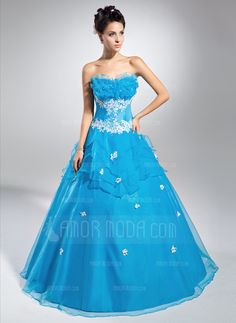 Quinceanera Dresses - $184.99 - Ball-Gown Scalloped Neck Floor-Length Organza Quinceanera Dress With Lace Beading Sequins (021015118) http://hochzeitstore.com/Ball-gown-Scalloped-Neck-Floor-length-Organza-Quinceanera-Dress-With-Lace-Beading-Sequins-021015118-g15118