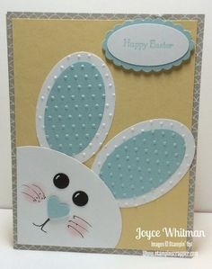 Punch Art Bunny Easter Card by Cookielady01 - Cards and Paper Crafts at Splitcoaststampers