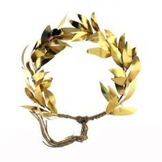 Entirely hand-made bronze olive tree wreath placed on a plexiglass base. Olive Wreath, Olive Tree, Bronze, Wreaths, Jewelry, Jewlery, Door Wreaths, Bijoux, Jewerly