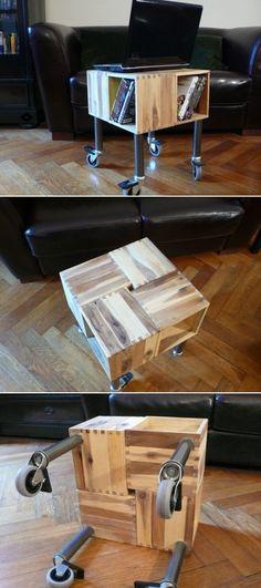 DIY Mobile Laptop Table