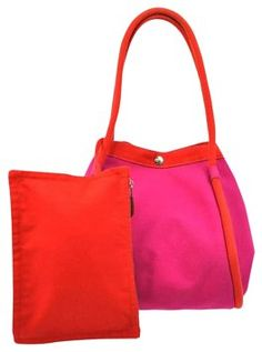 bb78e773204 Hermès Sac Cabas Pink  Red Tote Bag on Sale