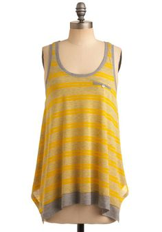 Love the yellow, love the flowy tank top feel