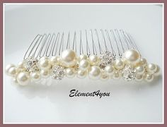 Bridal hair comb wedding hair accessories bridal by Element4you, $27.50