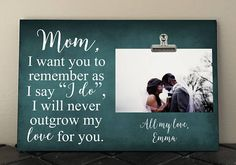 MOTHER of the BRIDE gift Personalized frame Wedding gift