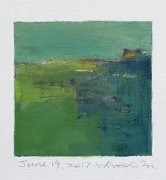 june192017 | Oil on canvas 9 cm x 9 cm © 2017 Hiroshi Matsum… | Flickr