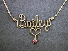 Easy and Fast Name Necklace Tutorial by AT  If you are crafty and creative girl who likes to make her own jewelry, this is a very easy and fast guide on how to make your own necklace.