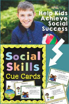 Social Skills Cue Cards to serve as a prompt and visual reminder for social situations and events. Great for students who struggle with social situations and need an extra support.