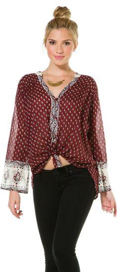 BILLABONG FREEDOM FOLLOWER BOHEMIAN BLOUSE > Womens > Clothing > Sale | http://Swell.com