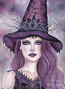 Renee Painting - Contessa Witch by Renee Lavoie