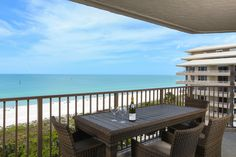 Spectacular views from all three balcony's of this beachfront unit on Marco Island's Crescent beach.