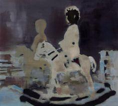 Horseman Negative Uwe Wittwer Oil On Canvas