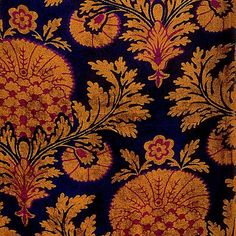 Ottoman Look, France, 1920s-30s, roller-printed or screen-printed silk velvet #TextileDesigns #SusanMeller  #TheDesignLibrary #ottoman #ottomanlook #ottomanstyle #traditional #turkish #velvet #carnation #stylized #decorative #surfacedesign #pattern #textile #beinspired