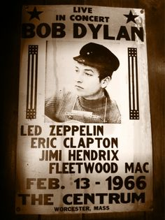 Bob Dylan, Jimi Hendrix, Led Zeppelin, Fleetwood Mac!...it's to perfect! I wish I was alive in '66!